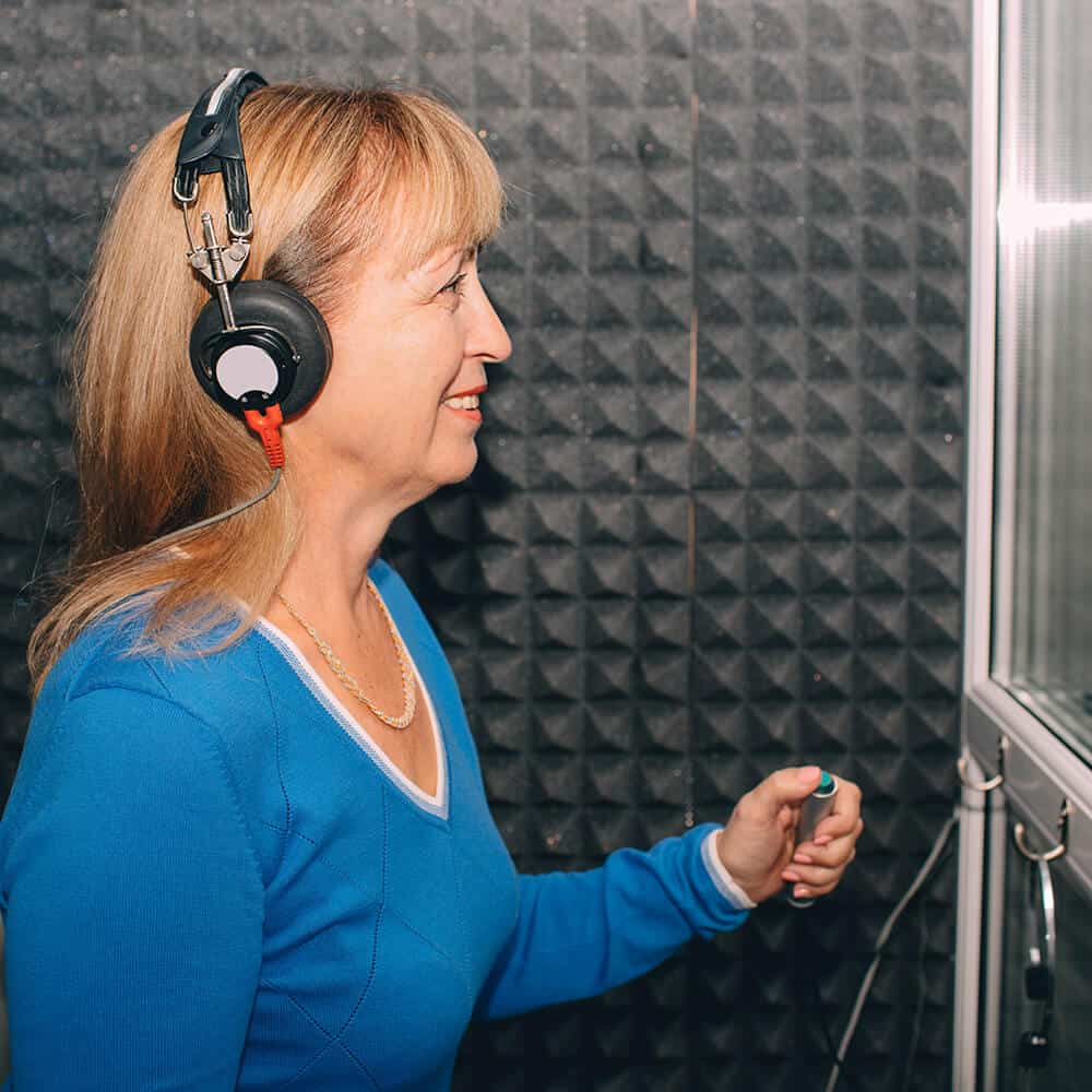 Woman Doing Hearing Test